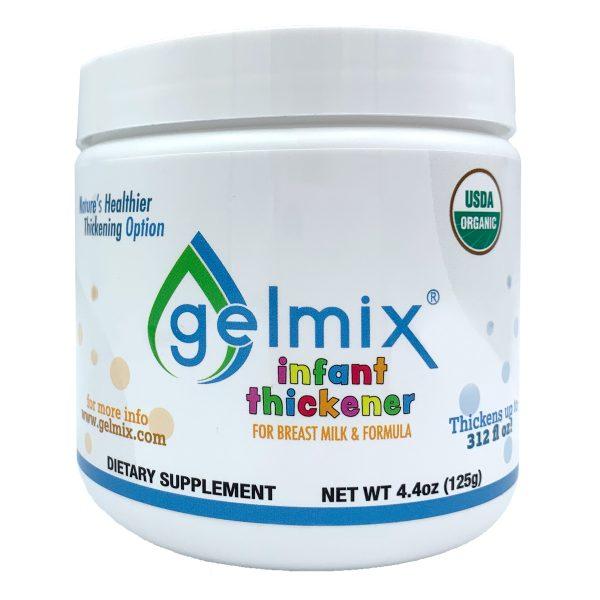 Gelmix breast milk and formula thickener